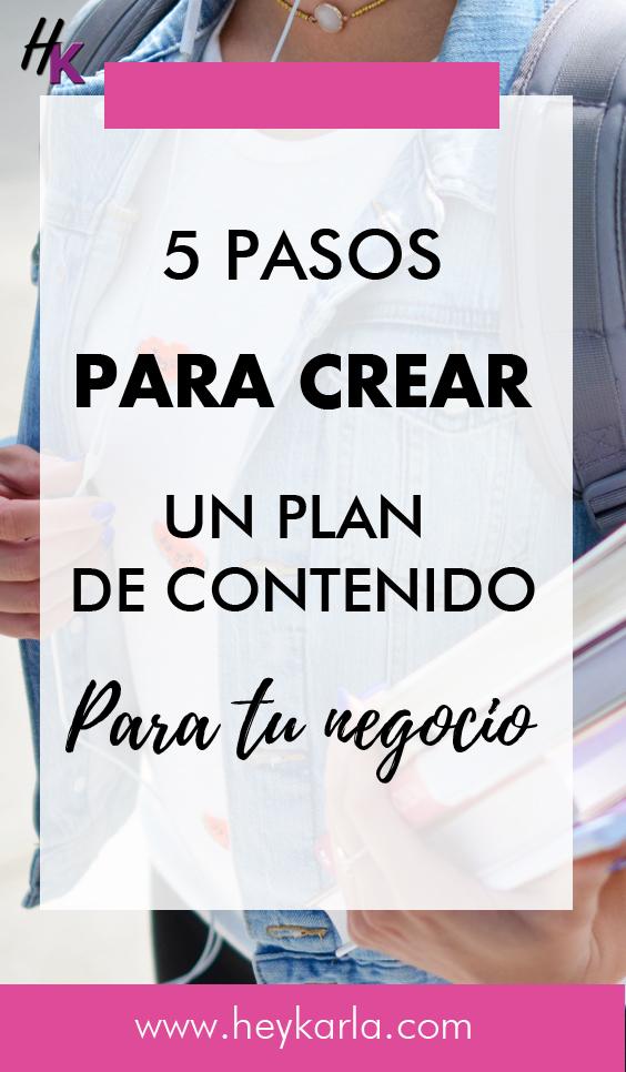 Como crear un plan de contenido para tu negocio