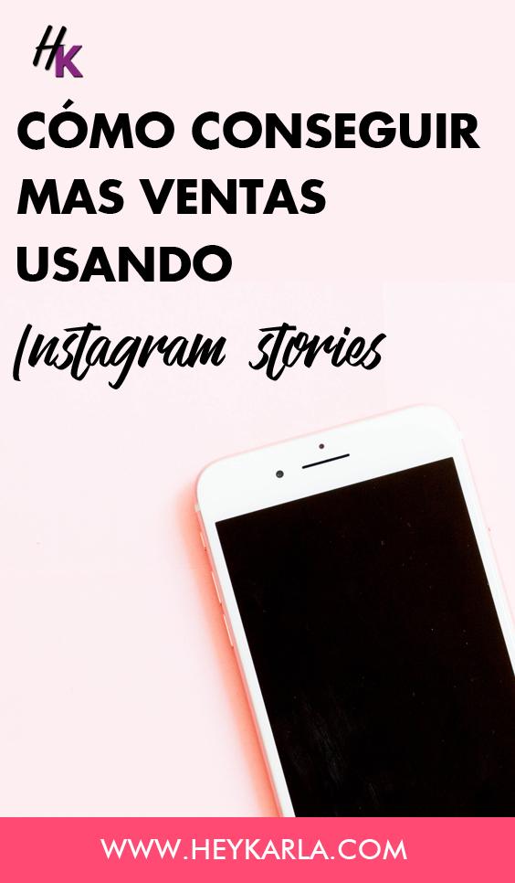 Como conseguir más ventas usando instagram stories